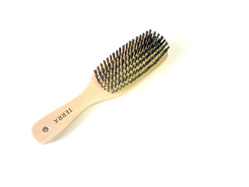 Price comparison product image Terra 100% All Natural Wood Medium Nylon Bristles Unisex Professional Hairbrush for All Types of Hair
