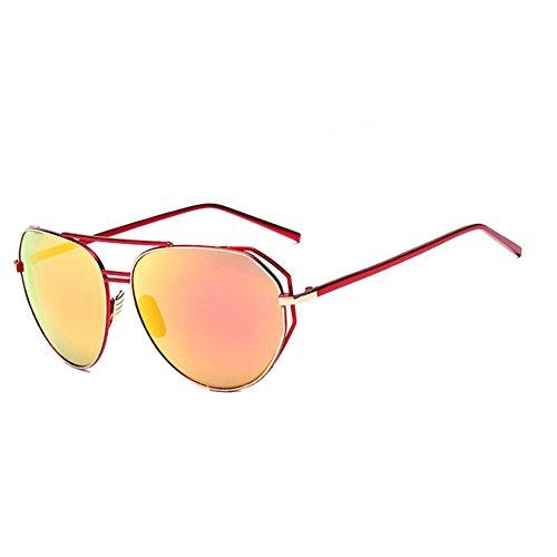 FCZERO SG70064 Gift Sunglasses for Women,Anti-UV - UV400/Red Frames/Orange Lens