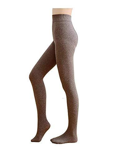 Opaque Milk - Jeffy & Retro Women's Opaque Cotton Tights PantyHose (Milk Coffee with Fleece Lined)