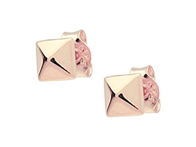 9a4f2e074 Amazon.com: Rose Gold Polished Pyramid Stud Earrings: Jewelry
