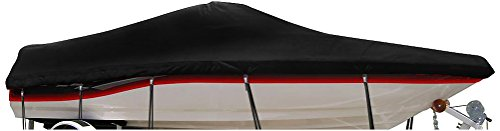 (WINDSTORM by Eevelle Boat Covers for V Hull Runabout, 19-Feet 6-Inch Length up to 96-Inch Width Outboard, Black)