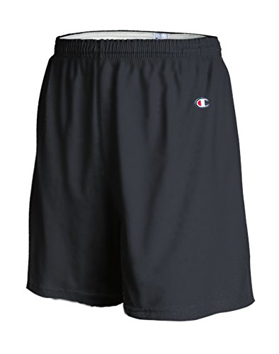 Champion 6.3 oz Cotton Gym Shorts in Black - Large
