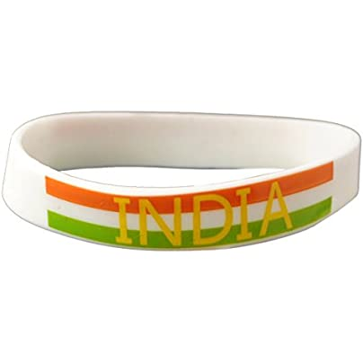 Komonee India White World Cup Olympics Silicone Wristbands Pack Estimated Price £3.25 -
