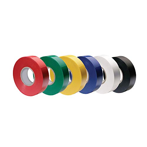 Vinyl Electrical Tape, 3/4-Inch x 66 Ft Roll, UL Listed, Rainbow (Pack of - Heavy Duty Tape 88 Vinyl