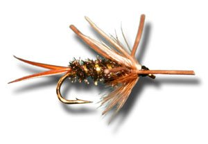 Nymph Rubber Leg (Prince Nymph - Rubber Leg Fly Fishing Fly - Size 14 - 6 Pack)