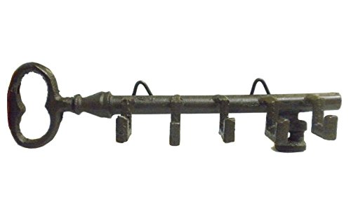 (Antique Style Skeleton Key Wall Holder with Hooks)