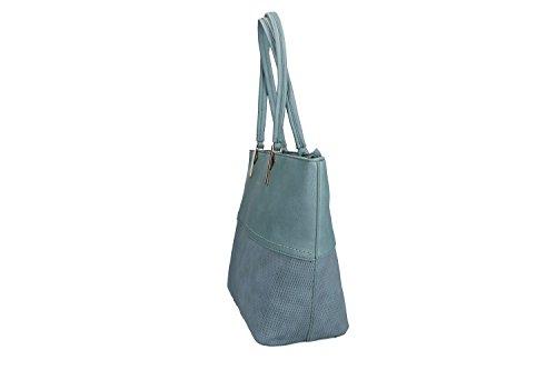 Borsa donna a spalla PIERRE CARDIN blu con apertura zip VN1379