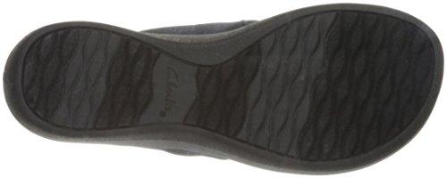 Clarks Frauen Arla Glison Sandale Black Heather Fabric