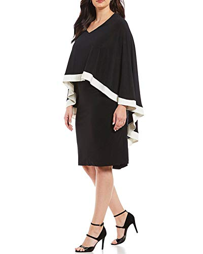 Taille Volants Robe Black V Au L Size À Avec Pour Dos En Soirée Encolure Femme De Mifusanahorn Black Et Grande color zdTq0z