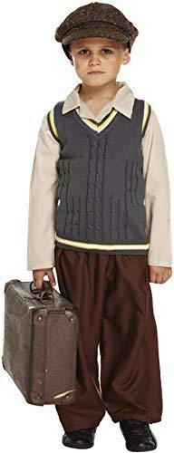 Boys Girls Child's WW1 WW2 Wartime Evacuee Fancy Dress Costume Outfit 4-12 Years (10-12 Years]()