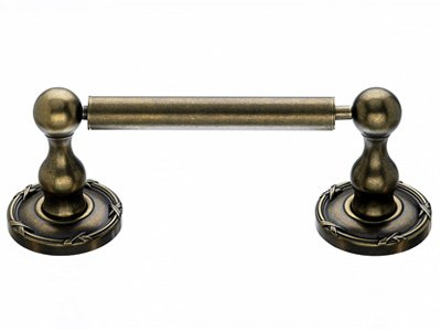 Top Knob Edwardian Bath Tissue Holder - ED3GBZE - Greman Bronze - Ribbon Back Plate