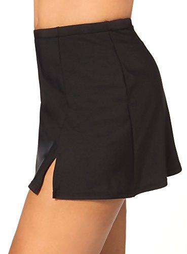 Shape Solutions Solid Swim Skirt Black 12
