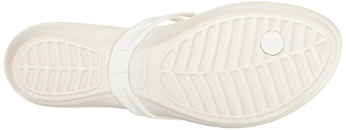 Women's Crocsisabella Crocs Flop Flip Embellished Oyster n1px5pTz