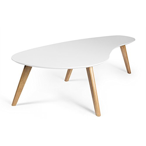 Inmod Signature Collection Kidney Shaped Coffee Table, White ()