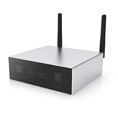 WiFi & Bluetooth 5.0 Audio Receiver,aptX HD Preamplifier with ESS Sabre Dac AKM ADC Multiroom,Airplay,Spotify,Pandora Tidal,Internet Radio-Arylic Up2Stream S50 Pro