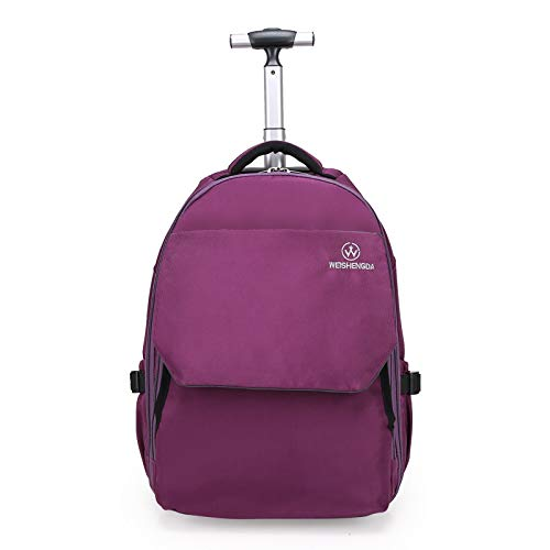 Makimoo 19 inches Wheeled Rolling Backpack Laptop Travel Waterproof School  Bag for Women Men - Purple b31deb2818eaf