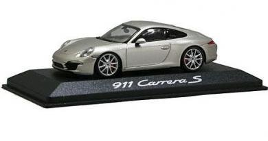 Minichamps 1/43 Porsche 911 Carrera S Silver 2011 PORSCHE 911 (991) CARRERA