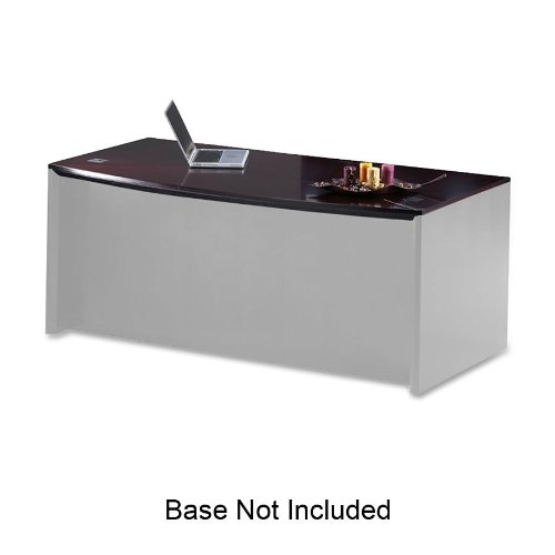 - TIFCDT72MAH - Tiffany industries Corsica Series Bow Front Desk Top