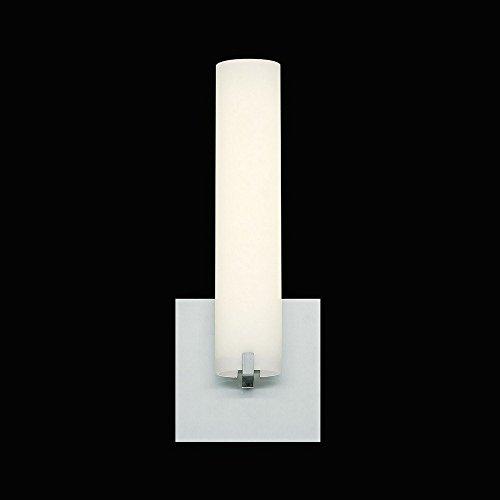 Eurofase Zuma Tube LED Wall Sconce, Opal White Glass, Satin Nickle Finish, 13.25 Inches High-Model 30181-021, Nickel