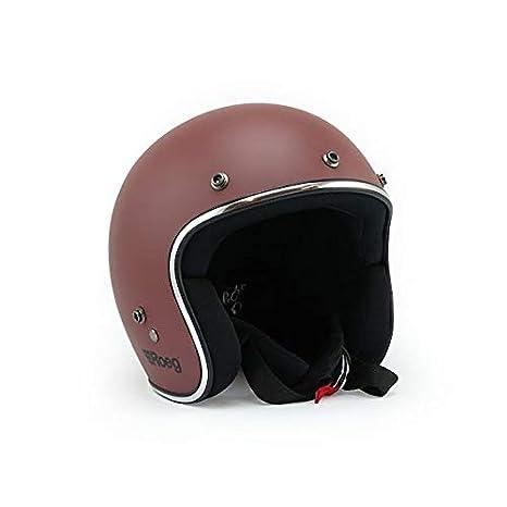Casco Jet Roeg Helmet Oxide Red Matte Rosso Opaco Omologato ECE Biker Custom Taglia M