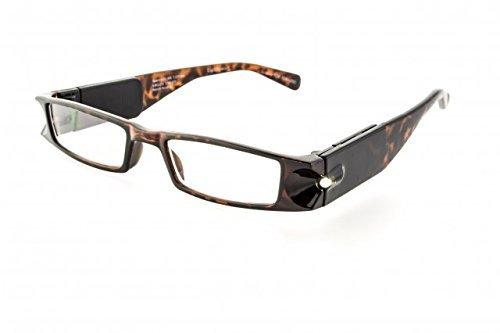 Foster Grant Men Women Liberty Tortoise LightSpecs LED Lighted Reading Glasses +2.00