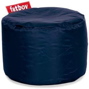 Fatboy® Point Hocker Nylon Blue | Runder Sitzhocker in Blau | Trendiger PoefFußbankBeistelltisch | 35 x ø 50 cm