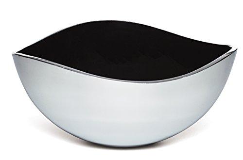 Aluminum Serving Bowl - Savora Dimple Aluminum and Enamel Serving Bowl, 12-Inch, Noir