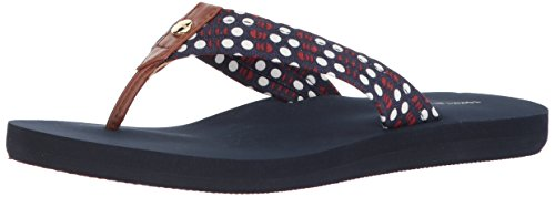 Tommy Hilfiger Women's Jamdin Flip-Flop, Signature Slash Dots, 9 Regular US