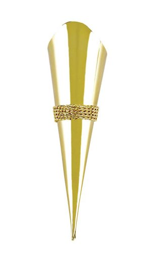 Darice VL1162-09, Lapel Pin Vase with Braid Trim, Gold (Lapel Pin Vase)