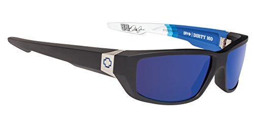 Spy Optic Dirty Mo Shield Sunglasses, Nationwide Livery/Happy Bronze/Dark Blue Spectra, 1.5 - Sunglass Polarization