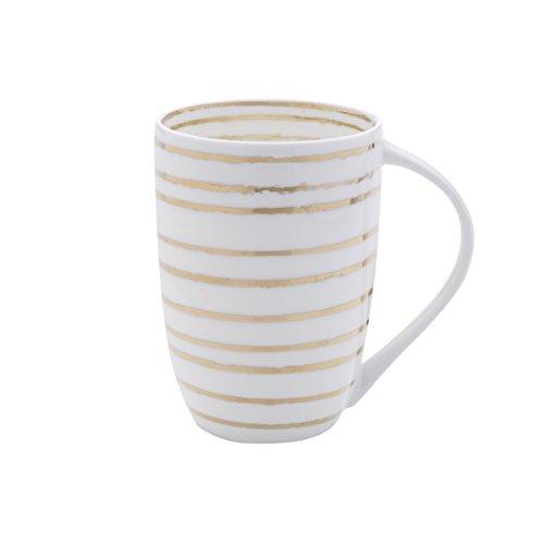 ffee Mug, 16-Ounce, Swirl White/Gold ()