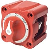 Blue Sea Systems m-Series Mini On-Off Battery Switch with Knob- Red