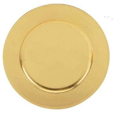 Charge It By Danny Classics Gold Charger Plates Round Electroplating Finish Premium Quality (12 PACK)