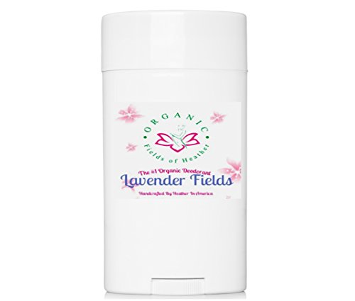 Organic Deodorant-Lavender Fields-Healthy All Natural Deodorant Detoxes with No Aluminum - Handcrafted in New Hampshire - Best Natural Women's Hypoallergenic Deodorant That Works