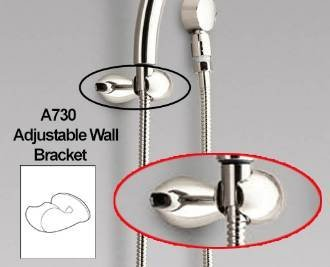 Moen A730PM Handshower Bracket, Platinum - Asceri Collection