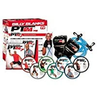 Billy Blanks PT 24/7 7-DVD Set with Bands and Gloves