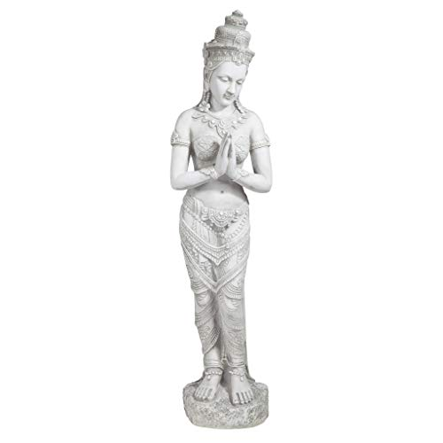 Design Toscano KY1459 Thai Teppanom Beautiful Being Asian Decor Garden Statue, Medium, Antique Stone
