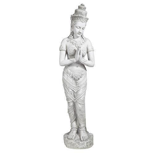 Design Toscano KY1459 Thai Teppanom Beautiful Being Asian Decor Garden Statue, Medium, Antique Stone ()