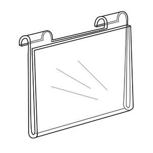 11'' x 14'' Gridwall Sign Holder, Horizontal by Retail Resource