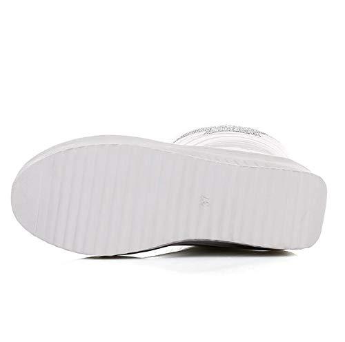 White White SHANGXIAN 36 White Caldo di Barilotto Freddo Donne del Neve Spessore da Stivali Tenere Stivali Giù Invernali del Stivali Stivali Cotone RRHrwA