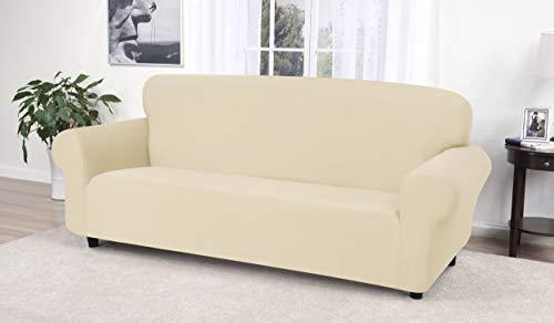 Madison Stretch Jersey Sofa Slipcover, Solid, Cream