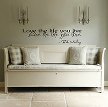 Imprinted Designs Love The Life You Live. Bob Marley 23 Inch Quote Vinyl Wall Decal Sticker -