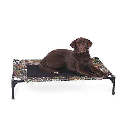 """K&H Pet Products Original Pet Cot Elevated Pet Bed, Medium (25"""" x 32"""" x 7""""), Realtree Edge Camo"""