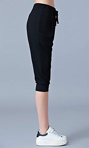 Libero Casuale Sportivi Donne Jogging Monocromo Pantaloni Eleganti Nero Palestra Estivi Tempo Prodotto Pantaloni Donna Pantaloni Baggy Yoga Sportivi Outdoor Plus Moda Battercake Tuta Pantalone Pq1U8q
