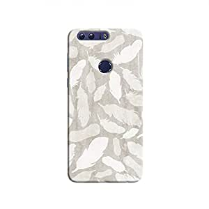 Cover It Up - Feather Grey Print Honor 8 Hard Case