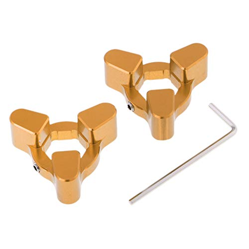 Flameer 1 Pair 14mm CNC Front Fork Preload Adjusters for Yamaha YZF R1 2009-2014 - Gold