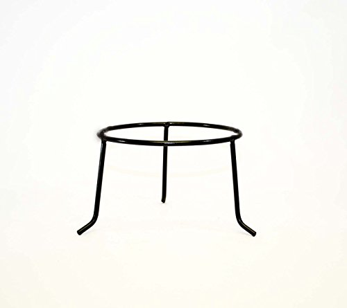 (Wrought Iron Tripod Base-7 Inches High X 10 Inch Inside Diameter of Ring. Iron Is 3/8 Inches Thick. Handmade of Wrought Iron Painted Bronze)