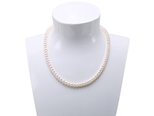 JYX Natural White 6-7mm Cultured Freshwater Pearl Necklace 18