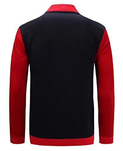 Casual Sportswear Coat Jacket 1 Zip Men's Sleeve TTYLLMAO Long Bomber up Jacket T5AxHHO