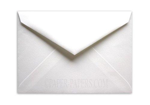 100% Pure Cotton Brilliant White Envelopes - 7-BAR Outer (5-1/2-x-7-1/2) - (Brilliant White Envelopes)